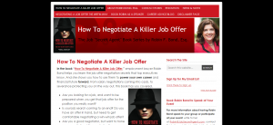 How To Negotiate A Killer Job Offer — The Job Secret Agent Book Series by Robin F. Bond Esq.
