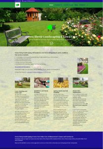 green sheep landscaping website