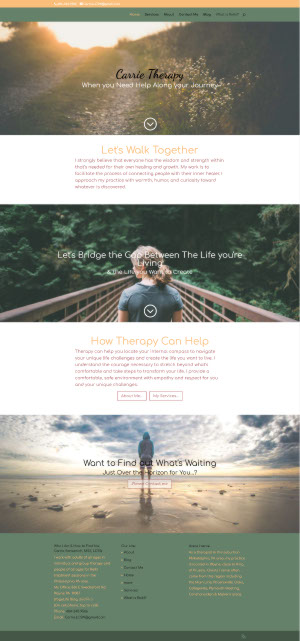 Carrie Therapy Website by Cathy Larkin